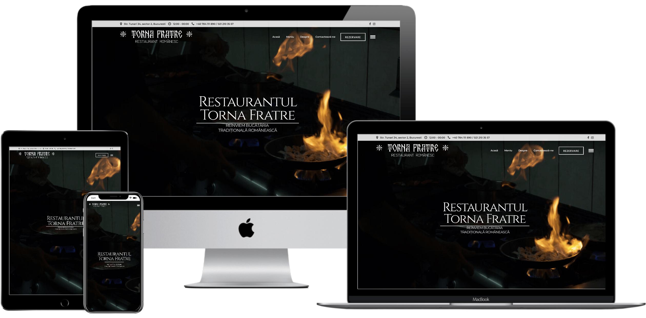 Website – Restaurant Torna Frate
