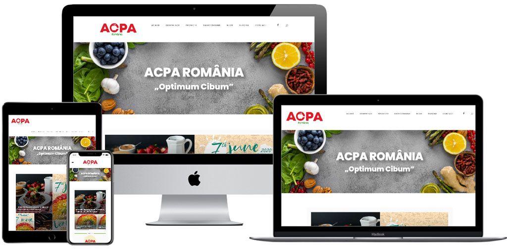 """Website – ACPA România """"Optimum Cibum"""""""